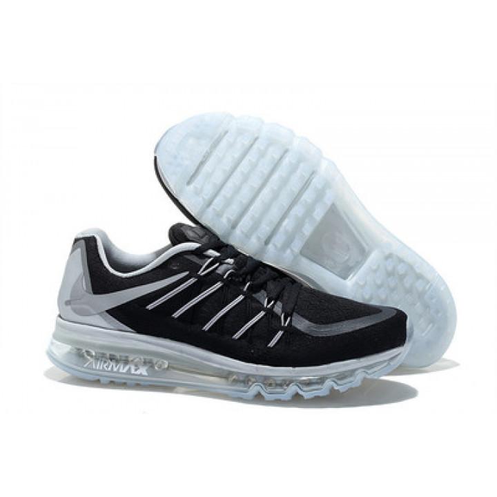 Кроссовки Nike Air Max 2015 черные с белой подошвой в Украине